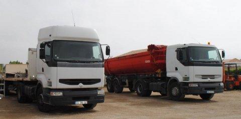 Camion de transport Rivesaltes
